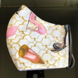 Accessories - 100% Cotton Fabric High Heels Print Face Mask